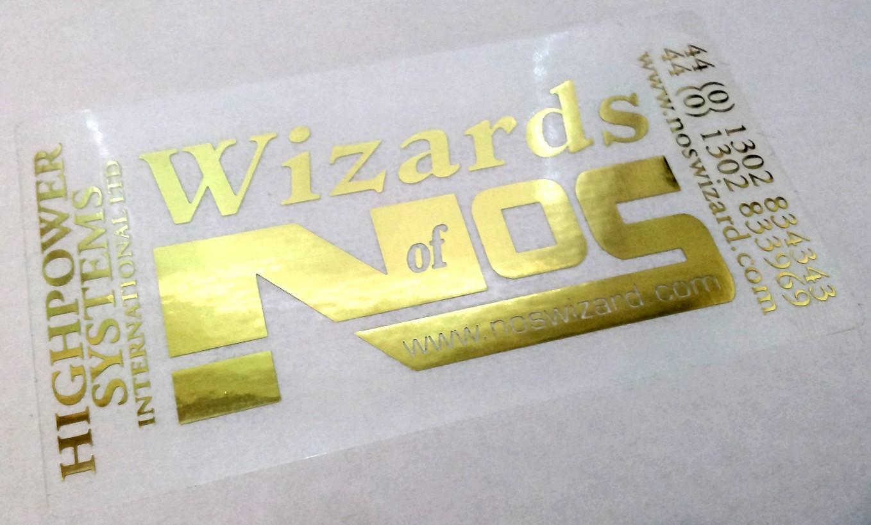 Wizards of NOS Gold Sticker