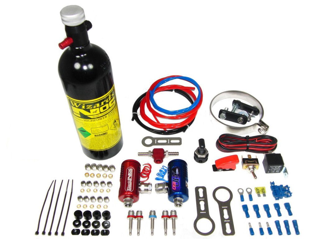 Wizards of NOS SB50-4 Cyl Airbox Bike Nitrous Kit