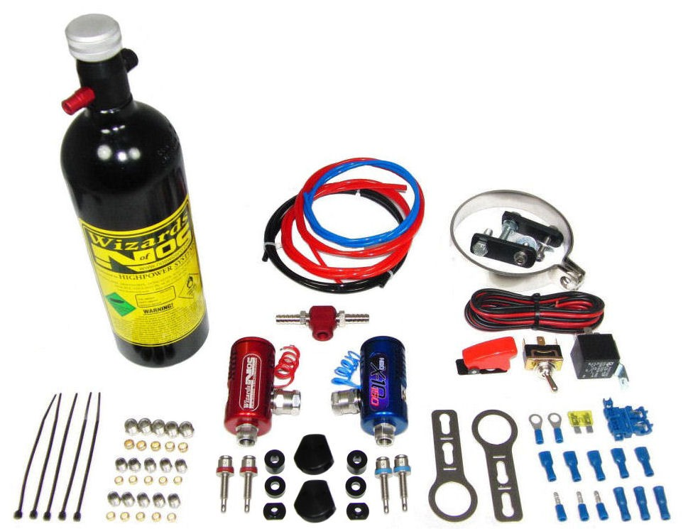 Wizards of NOS SB50 Twin Cylinder Nitrous Kit