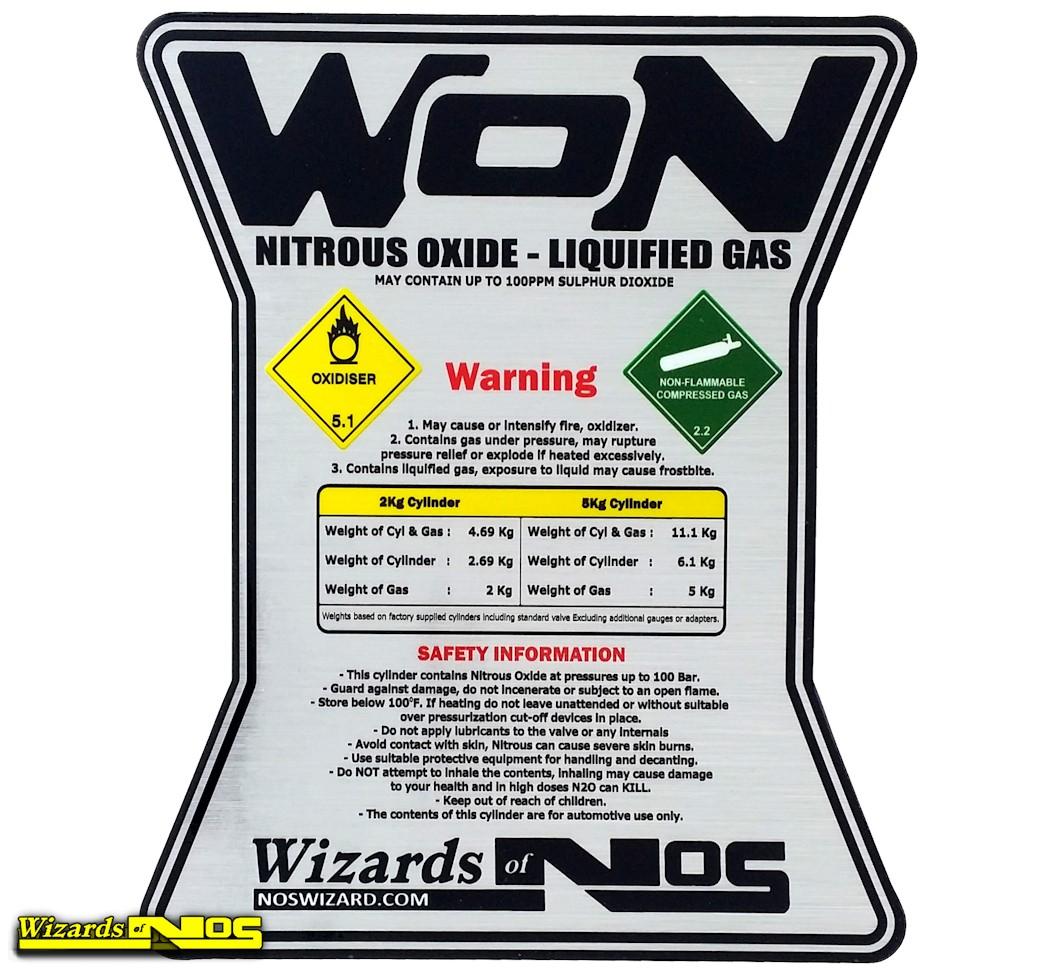 Wizards of NOS Nitrous Bottle Sticker