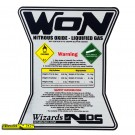Wizards of NOS Nitrous Bottle Sticker