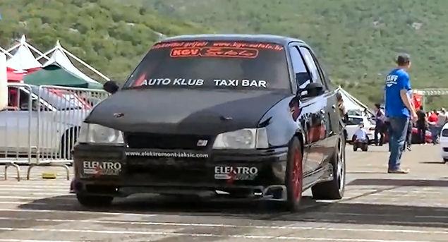 Opal Kadett with Audi 2.8 V8 turbo and WON
