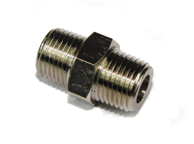 1/8 BSPT to 1/8 BSPT Nitrous Connector M/M