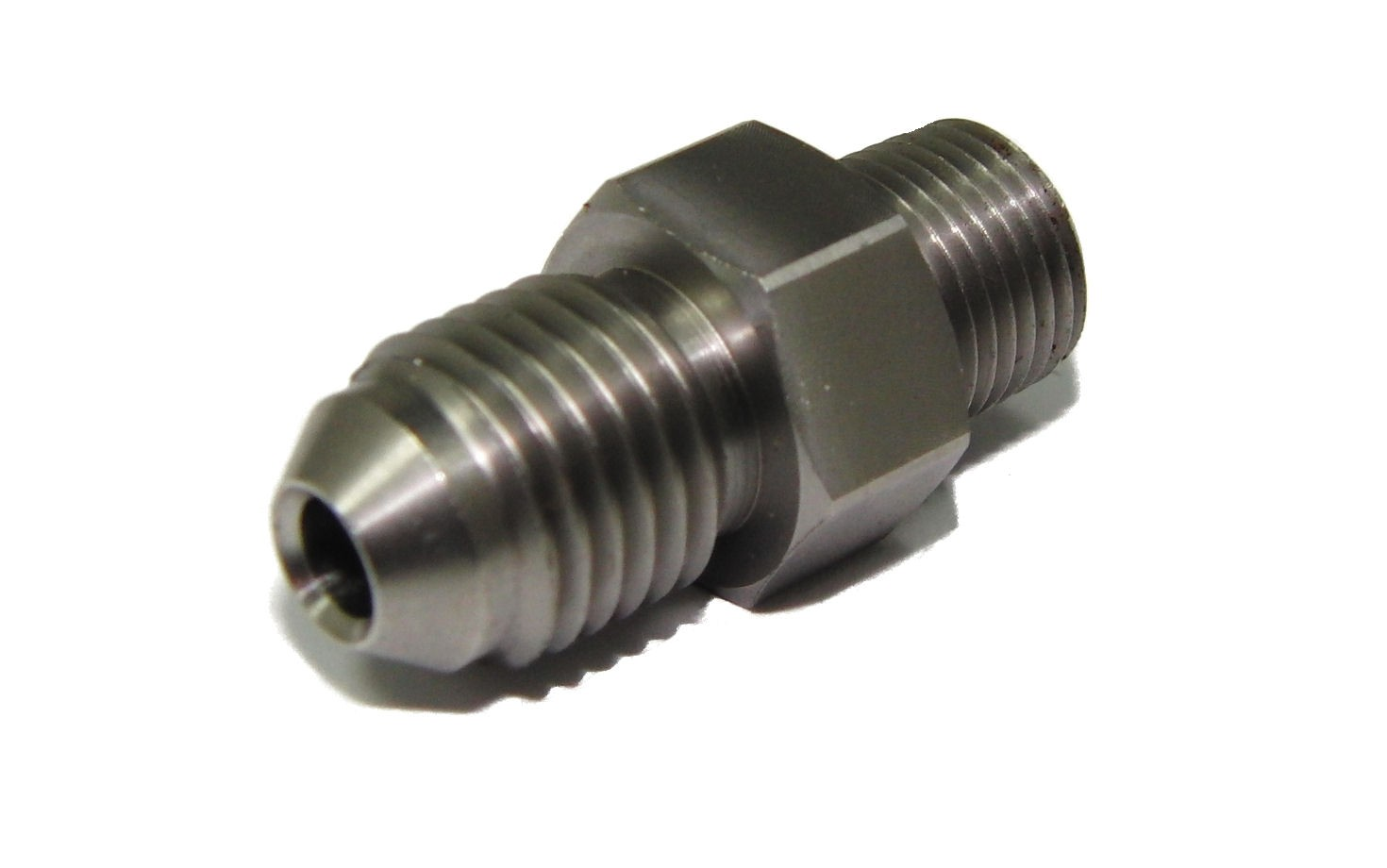 4AN (7/16 UNF) to 1/8 BSP M / M Nitrous Adapter