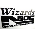 Wizards of NOS 40 x 20 cm Vinyl logo